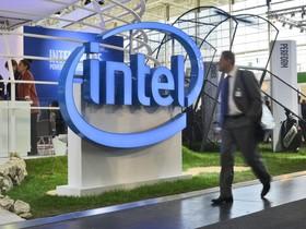 Estand de Intel en una feria tecnológica en Hannover, Alemania, en el 2016.