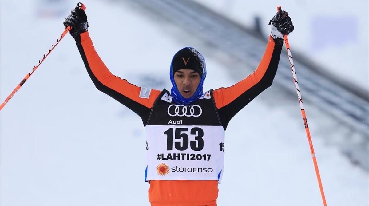 Adrián Solano protagonizó la prueba más torpe del Mundial de esquí