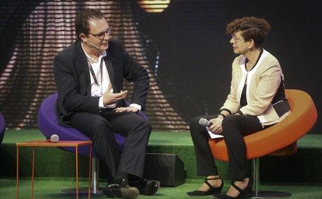 Aleix Valls durante la presentación del nuevo socio de la aceleradora de Mobile World Capital Barcelona.
