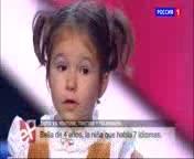 Bella la ni�a rusa de 4 a�os que habla 7 idiomas.