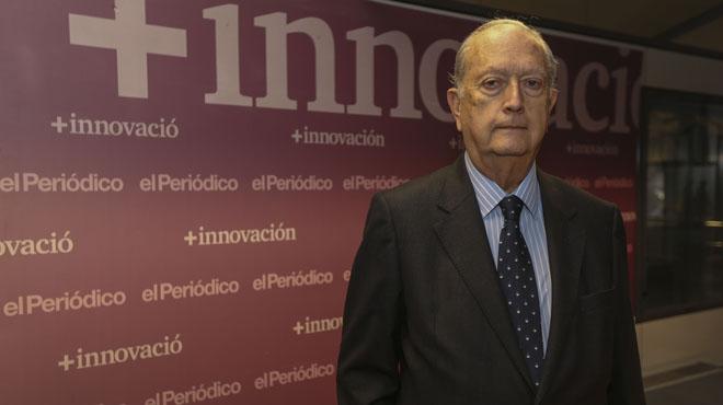 Juan José Bruguera, presidente del Cercle d'Economía, en la sede de el Periódico.