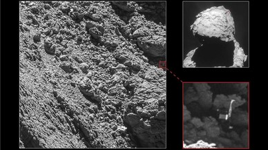 Im�genes del m�dulo Philae sobre la superficie del cometa 67P/Churyumov-Gerasimenko