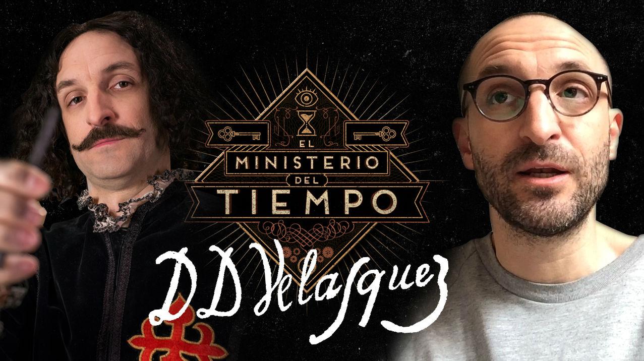 Juli�n Villagr�n, Vel�zquez a 'El Ministerio del Tiempo', comenta el quadro de Mariana d''Austria.