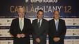 Jordi Cornet, delegado del Estado en la Zona Franca; Joan Alegre, director general de Primera Plana, y Joaquim Gay de Montellà, presidente de Fomento.