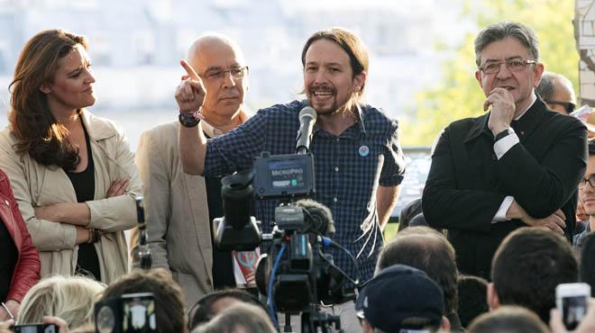Melechon y Pablo Iglesias