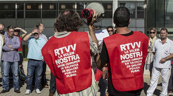 Els treballadors de Canal 9 munten manifestacions per dissabte