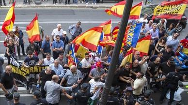 Intents d'agressió en un acte a València en suport al referèndum