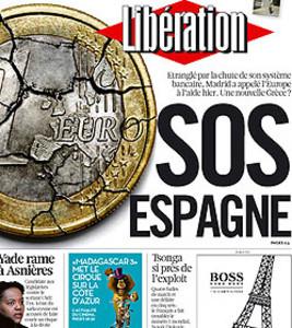 Portada de este miércoles del diario francés 'Libération'.