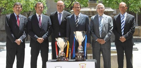 Presentacin de la Supercopa de Catalunya, en la Generalitat.