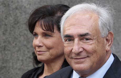 Anne Sinclair y Dominique Strauss-Kahn, en agosto del 2011, en Nueva York.