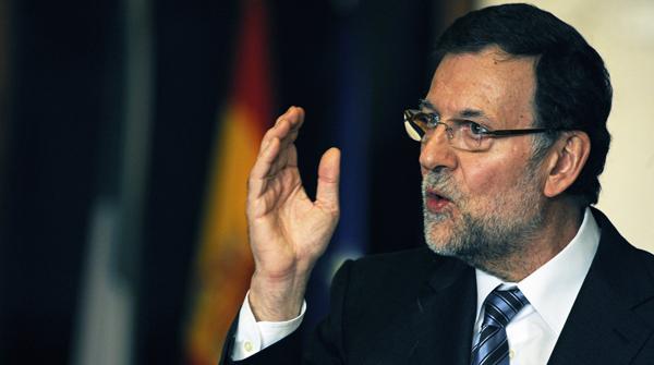 El presidente del Gobierno, Mariano Rajoy, el pasado domingo en Granada.