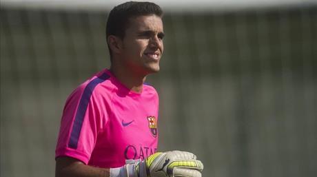 Masip, en un entrenamiento con el Barcelona.