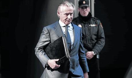 Miguel Blesa tras declarar en la Audiencia Nacional el pasado mes de marzo.