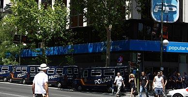 La sede del PP en Madrid.