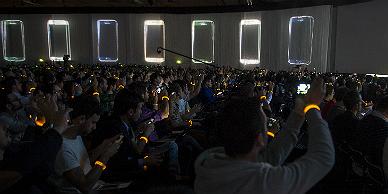 Una conferencia en el congreso de m�viles de Barcelona.