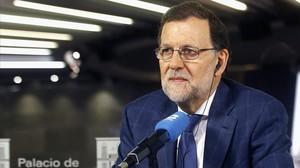 El presidente del Gobierno en funciones, Mariano Rajoy, este martes en una entrevista radiofónica.