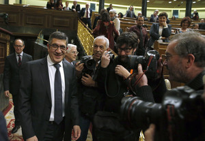 Patxi López, en la sesión de constitución de las Cortes