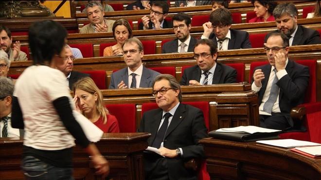 """Artur Mas: """"Anna Gabriel (CUP) ha demostrat més ganes de tenir càrrec que jo"""""""