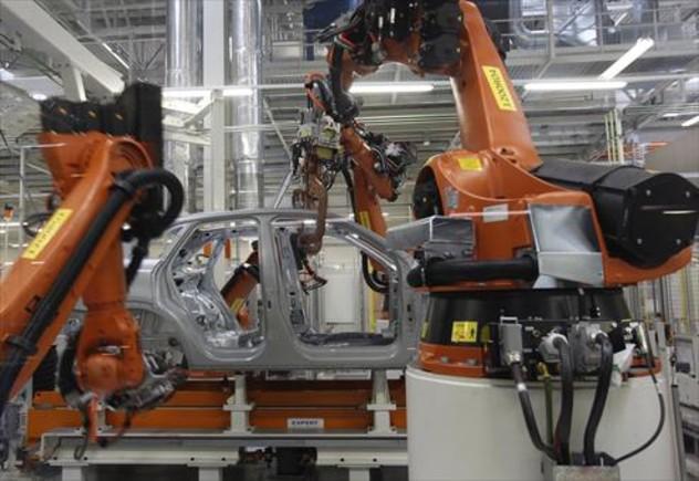 Planta de producción robotizada del Audi Q3 en la factoria de Seat en Martorell.