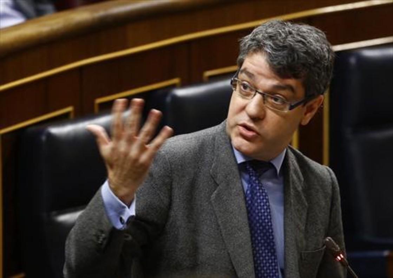 Álvaro Nadal, ministro de Energía, durante el pleno del Congreso de los Diputados de ayer.