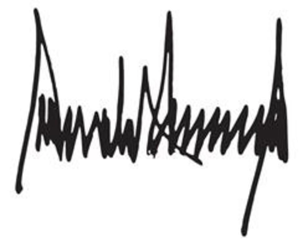 Firma de Donald Trump