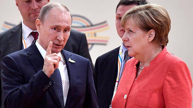 La reacció de Merkel davant Putin a la cimera del G-20 a Hamburg