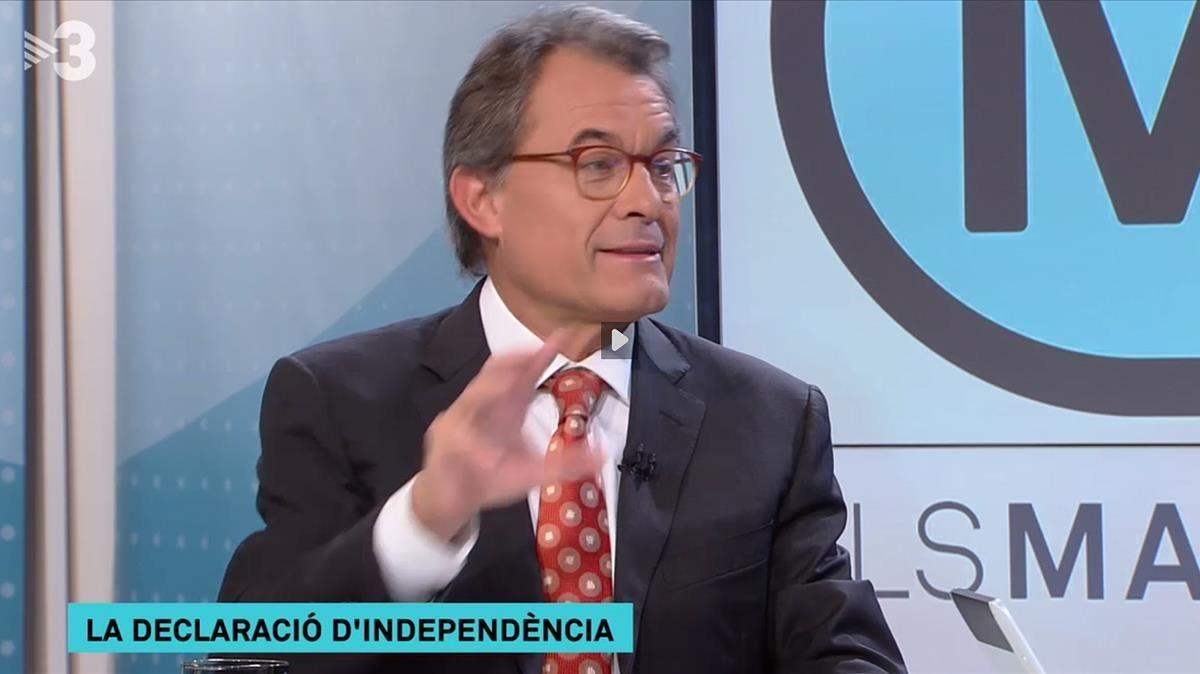 El expresidente Artur Mas en Els matins de TV3