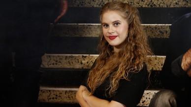 La actriz Elisabet Casanovas, que interpreta a T�nia en la serie 'Merl�'