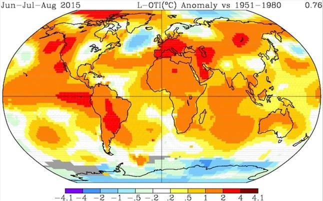 El pasado verano fue el más cálido en la Tierra desde que hay registros
