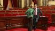 """L'oposició evita criticar el Govern i deplora l'actitud """"intolerable"""" dels violents"""