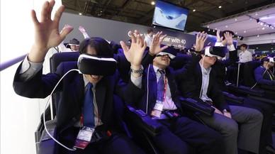 Atracci�n virtual en el stand de Samsung en el �ltimo Mobile World Congress, en Barcelona.