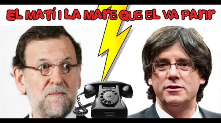La broma telefònica d'un programa de Ràdio Flaixbac al president del Govern, Mariano Rajoy, en què un imitador es fa passar pel presidentPuigdemont.