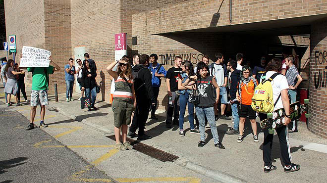 Detinguda una estudiant en una protesta a la Universitat de Lleida