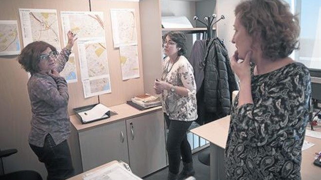 Reuni�n de trabajo en el despacho de UCER, en Ciutat Vella