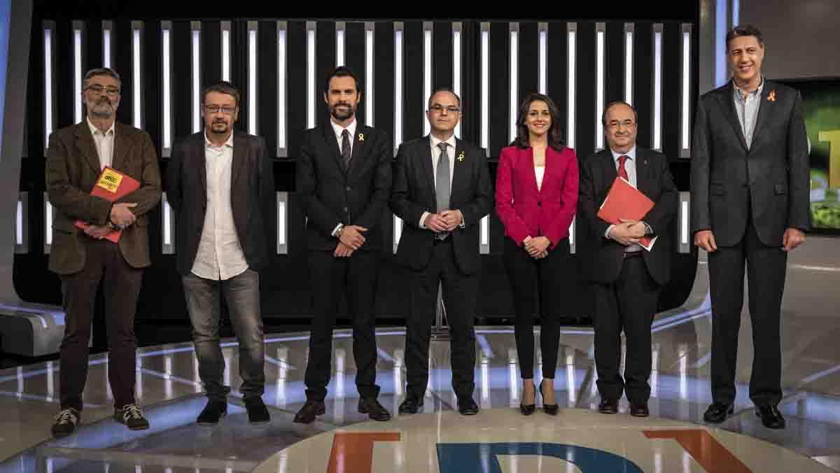Set partits per a una Catalunya dividida
