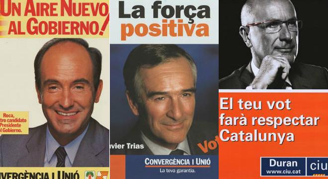 Els cartells de Convergència i d'Unió per a les eleccions generals des del 1982