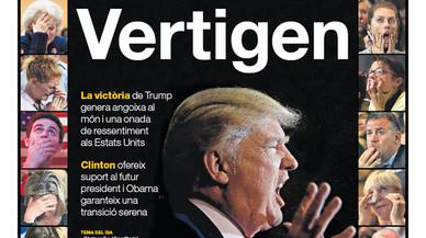 La portada d'EL PERIÓDICO del 10 de novembre del 2016