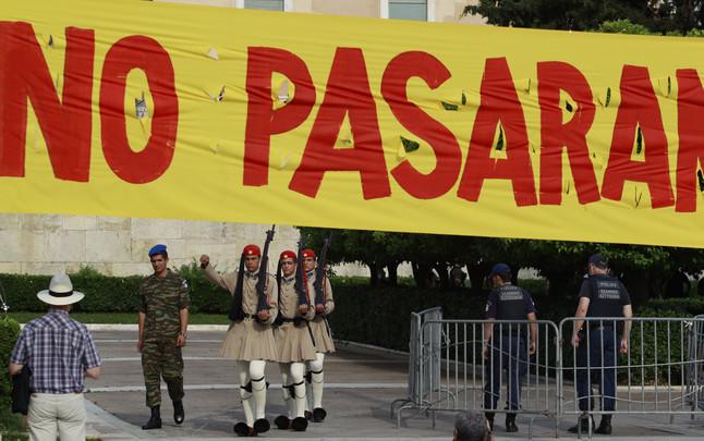 Indignados en la Plaza Sintagma de Atenas