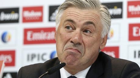 Carlo Ancelotti, durante la rueda de prensa antes del partido de Copa ante el Cornell�