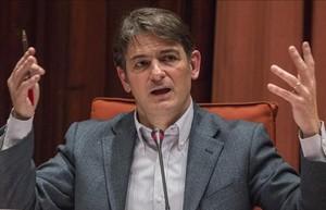 Oriol Pujol en la comisión del Parlament, en marzo pasado.