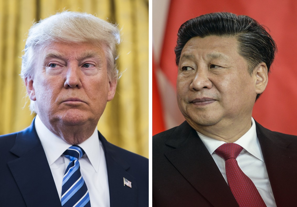 El presidente de EEUU, Donald Trump, y su homólogo chino, Xi Jinping.