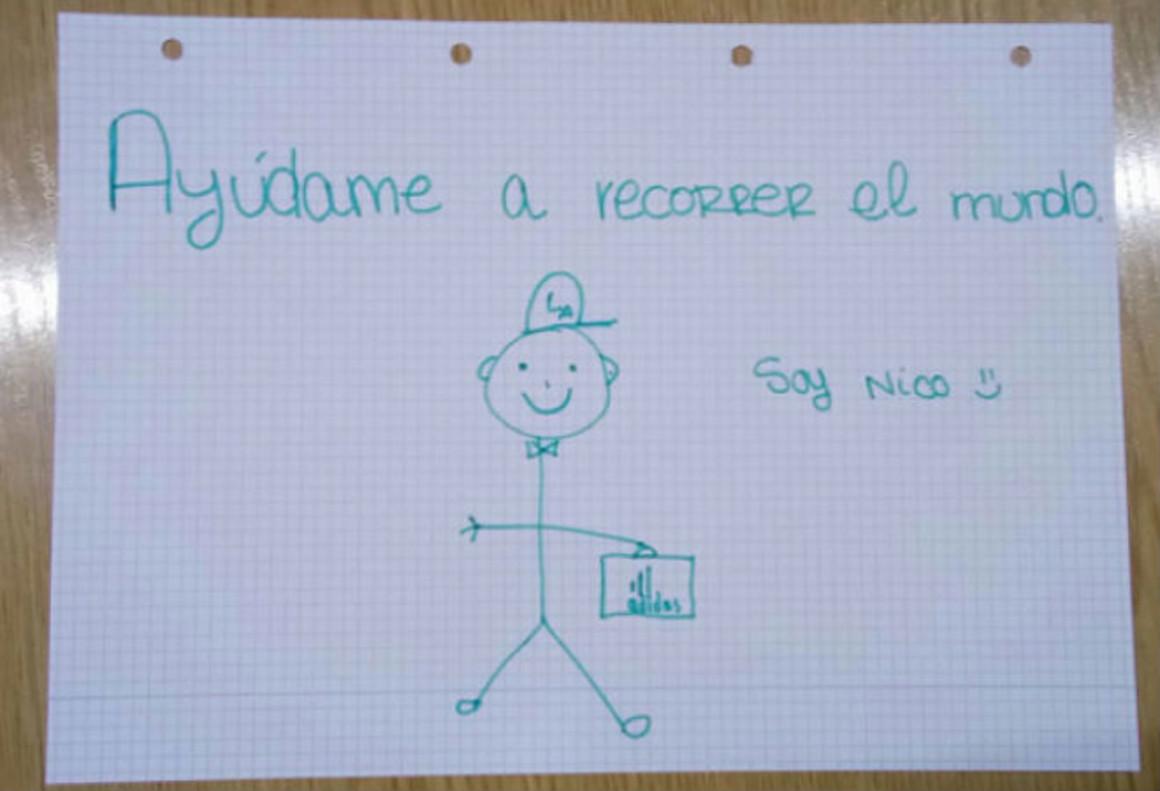 El dibujo de Nico que ya tiene casi todo el mundo en su Whatsapp.