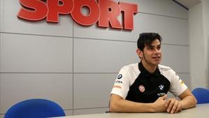 Jordi Torres en su visita a SPORT
