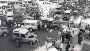 1981 salon automovil barcelona estand land rover santana