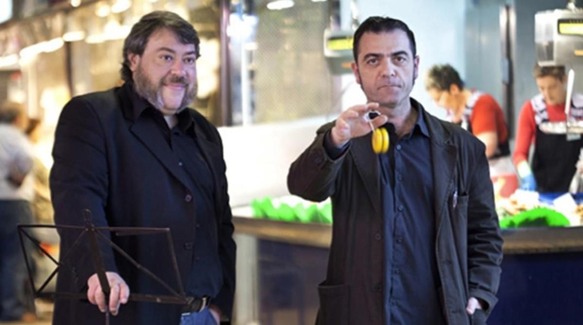 Rafael Metlikovez (derecha), junto a Xavier Theros.