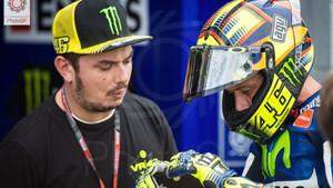 Valentino Rossi, con Uccio