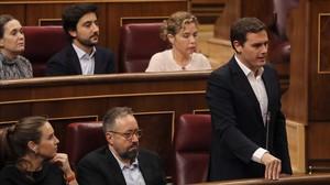Albert Rivera, este miércoles en el Congreso durante la sesión de control al Gobierno.
