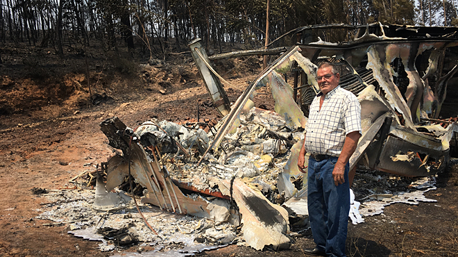 Los daños por los incendios de Portugal.