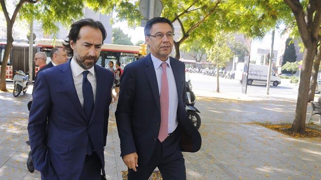 El president del FC Barcelona no ha volgut fer declaracions alsortirdels jutjats.