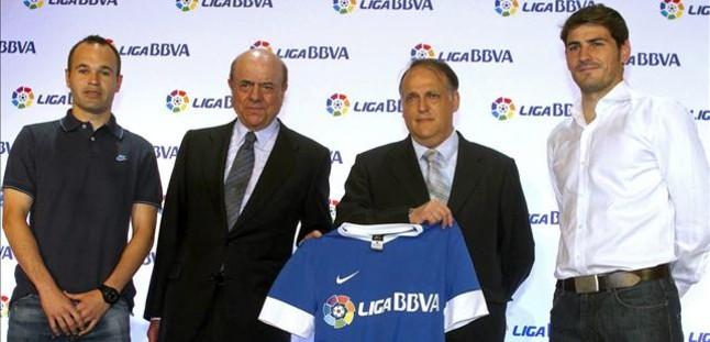 La Liga y el BBVA renuevan su acuerdo por tres años y 70,5 millones de euros